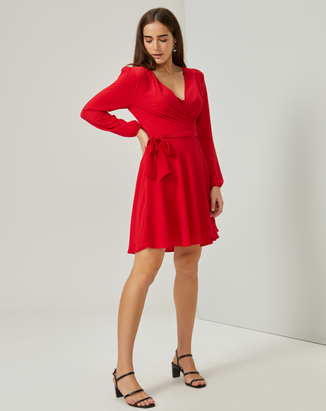 Wrap Dress Vermelho