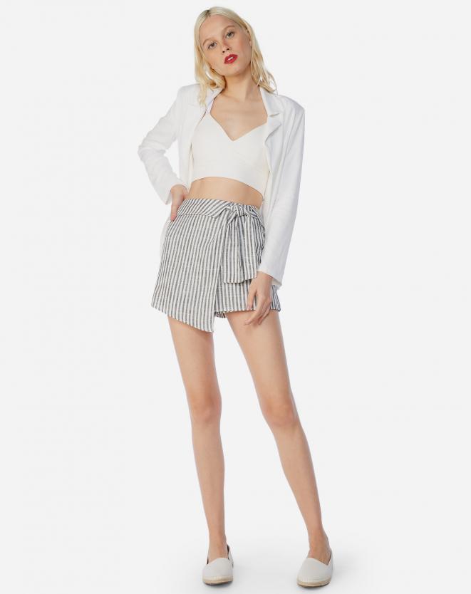 Shorts-Saia Linho